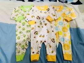 Jumper newborn motif buka kaki isi 3