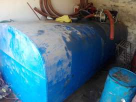 Diesel and petrol pump tanks with unit