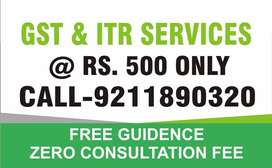GST AND ITR SERVICE REG CONTACT ME
