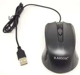 PTC MOUSE USB RAIGOR G-211E / MOUSE KABEL MURAH KUALITAS BAIK