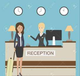 Fresher also can join receptionist need in ltd company