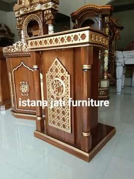 Mimbar masjid material mimbar jati free ongkos kirim sampai tujuan