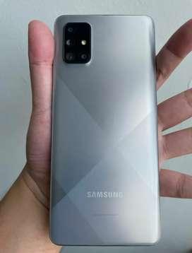 (Second) Samsung A71 Haze Crush Silver 8/128 masih garansi