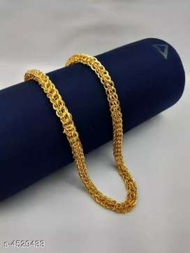 Men stylish Gold Plated Brass chain