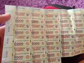 Materai 6000 (16 biji )