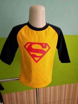 Kaos anak logo superman