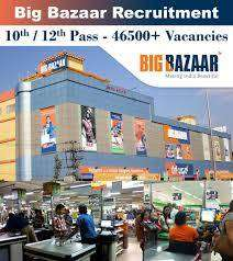 Big Bazaar process urgent job vacancy in Delhi NCR
