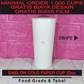 Sablon Paper Cup 22 oz