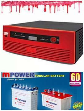 EXIDE INVERTER WITH MPOWER TUBULAR BATTERY.