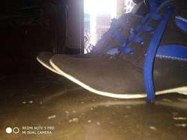 Blue stylish shoe