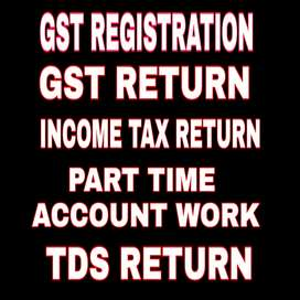 GST return file karwaye, GST no apply karwaye, TDS & ITR file @200