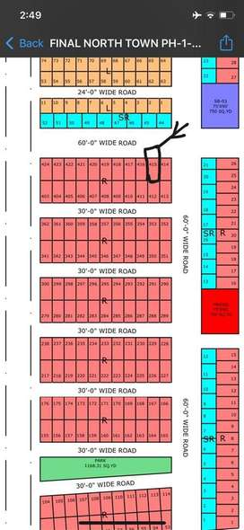 120 sq yards plot . well location north town residency phase 2 .