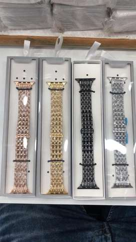 Apple watch bands straps silicon milanese link leather or rihnstone 42