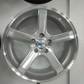 silver polish face velg ready ertiga,terios,xtrail Ring 18x8 H5x114,3