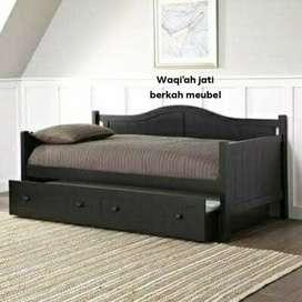 Sofa santai dorang modern & mewah, 90x200, bahan kayu jati terbaik