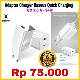 ORIGINAL Adapter Charger Baseus 3.0A BERAGARANSI