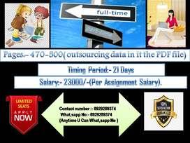 Computer operator job/ pdf to MS- word offline work/home based data...