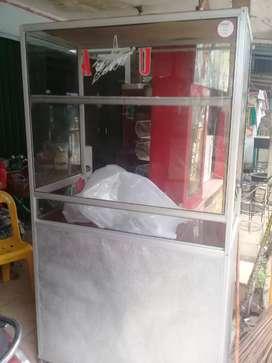 steling kaca alumium  180x50x125