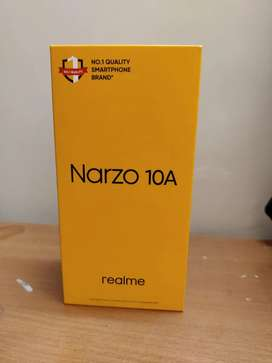Realme Narzo 10A, 4GB RAM 64 GB internal storage,So Blue colour, bill