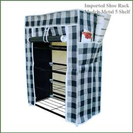 Single Shoe Rack, Metal Shelves, 5 layers, Real solutions for today's