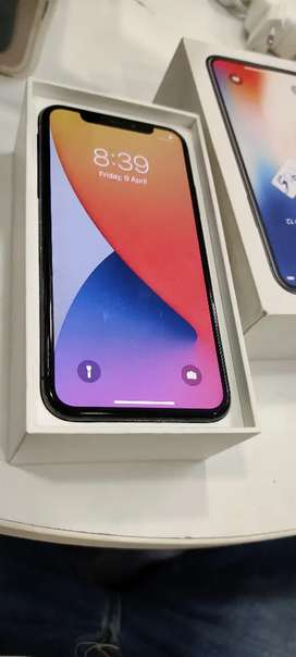 Iphone x 256gb gray box charger bill all available all working fine
