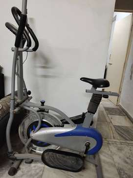 Elliptical bicycle with hand pulse sensor and calories monitor