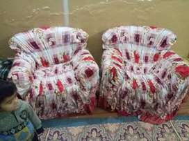 Sufa 5 seater with covers, months used, best condition only Rs.20000 .
