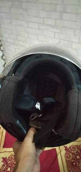 Half face helm zeus zs610 black doff