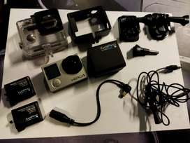 GoPro hero 4 with 2 batteries and charger