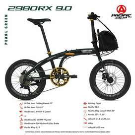 """Sepeda Lipat 20"""" Pacific 2980 RX 9.0 REM HYDROLIC 9 SPEED"""