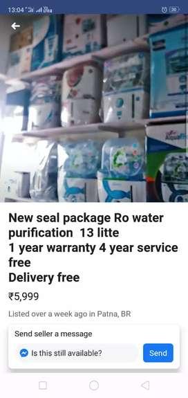 Aqua frees Ro Wholesaler price me & 5 yers Warranty' Call me Fast-