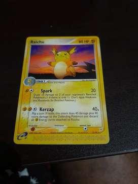 Rare raichu pokemon card collectible