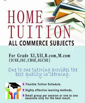 Online Tution for Bcom, BBA, Plus one, Plus two(Commerce & Humanities)