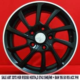 velg model SALE ABT JD72 HSR R15X65 H5X114,3 ET42 SMB/MR