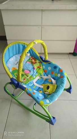 Bouncer pliko - kursi baby - ayunan portabel