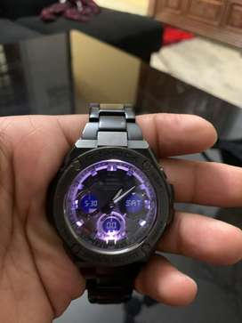 Casio Black steel watch