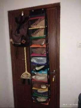 Rak sepatu resleting 11 susun pelangi