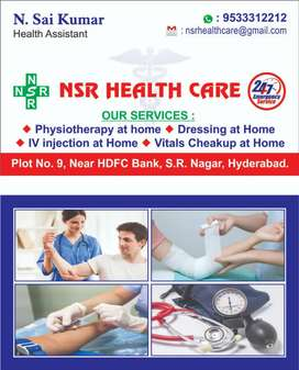 Physiotherapy and iv injection at home