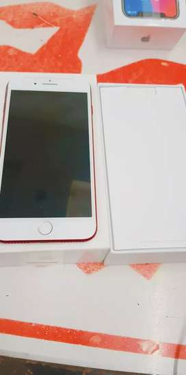 Red colour ma iPhone 7 plus 128gb with bill box six months sellers