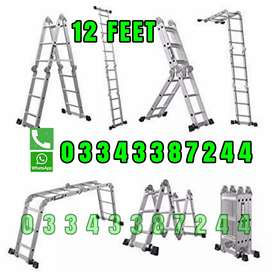 ALMUNIUM 7 DIFFERENT SHAPE FOLDING LADDER     3 FT TO 12 FT FOLD