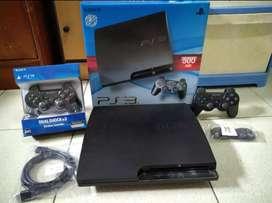 PS3 Slim kwalitas Istimewa 500gb full 100 game 2Stik harga murah