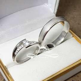 Cincin kawin emas perak platina palladium nikah tunangan couple