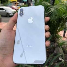 iPhone X 64GB Silver Ex Inter Fullset Mulus No Minus
