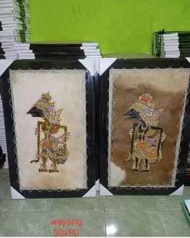 Lukisan Tokoh Wayang Kulit Kambing Solo