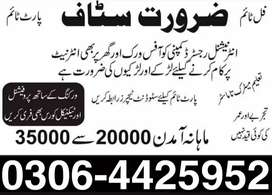 Part time, full time & Home Based Online Job for Males & Females
