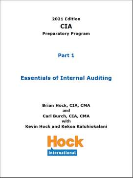 Hock CIA 2021 Books,Flash cards and Videos available now.