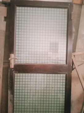 Wood and glass door for sale