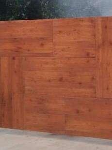 Gate cladding sheet