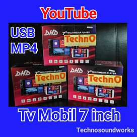 GPS Tv mobil Android 7 inch YouTube tape doubledin for paket sound arb