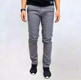 Celana Chinos Chino Pants Grey Skinny Fit Size 27-45